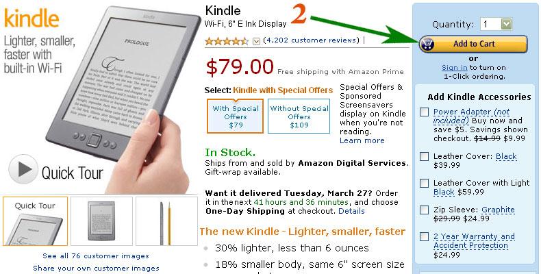 Заказ на Amazon