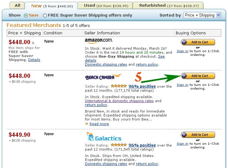 Как купить товар на Amazon