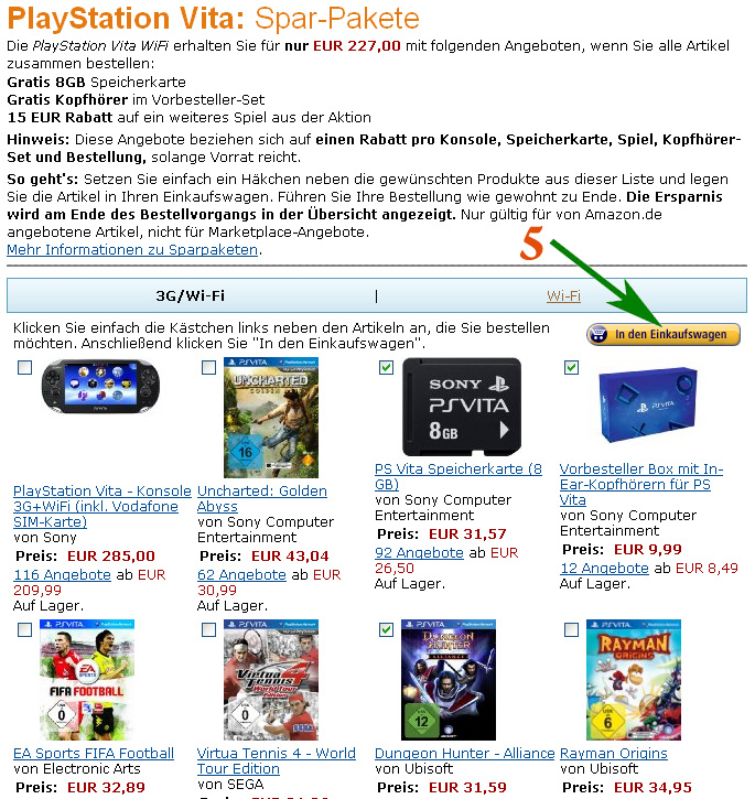 Бесплатные товары на Amazon.de