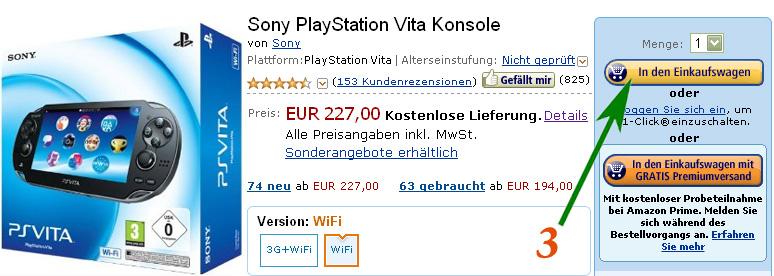 Покупка на Amazon.de