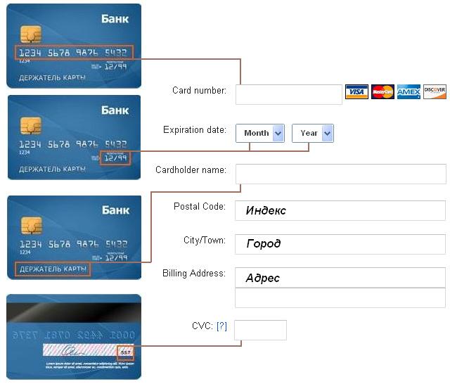 Разовое пополнение счета банковской картой - Оплата